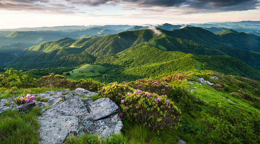 Scenic view of the Appalachian Mountains Trail