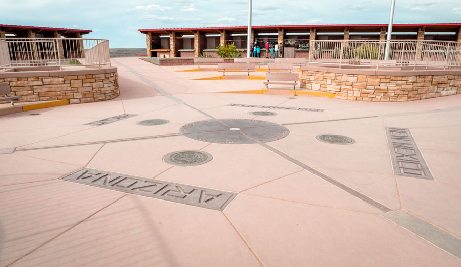 View of the Four Corners Monument wherein you can stand at 4 states at once