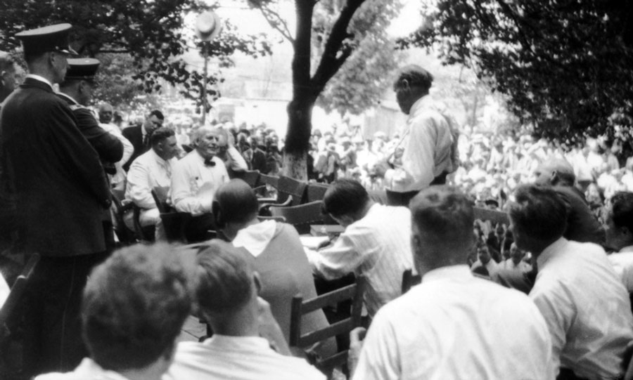 The interrogation at the Scopes Monkey Trial