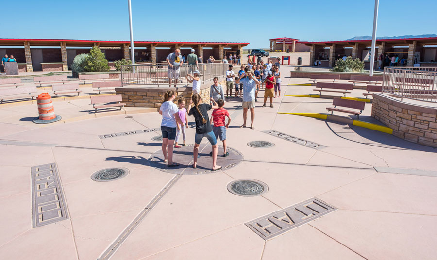 View of tourists in Four Corners Monument